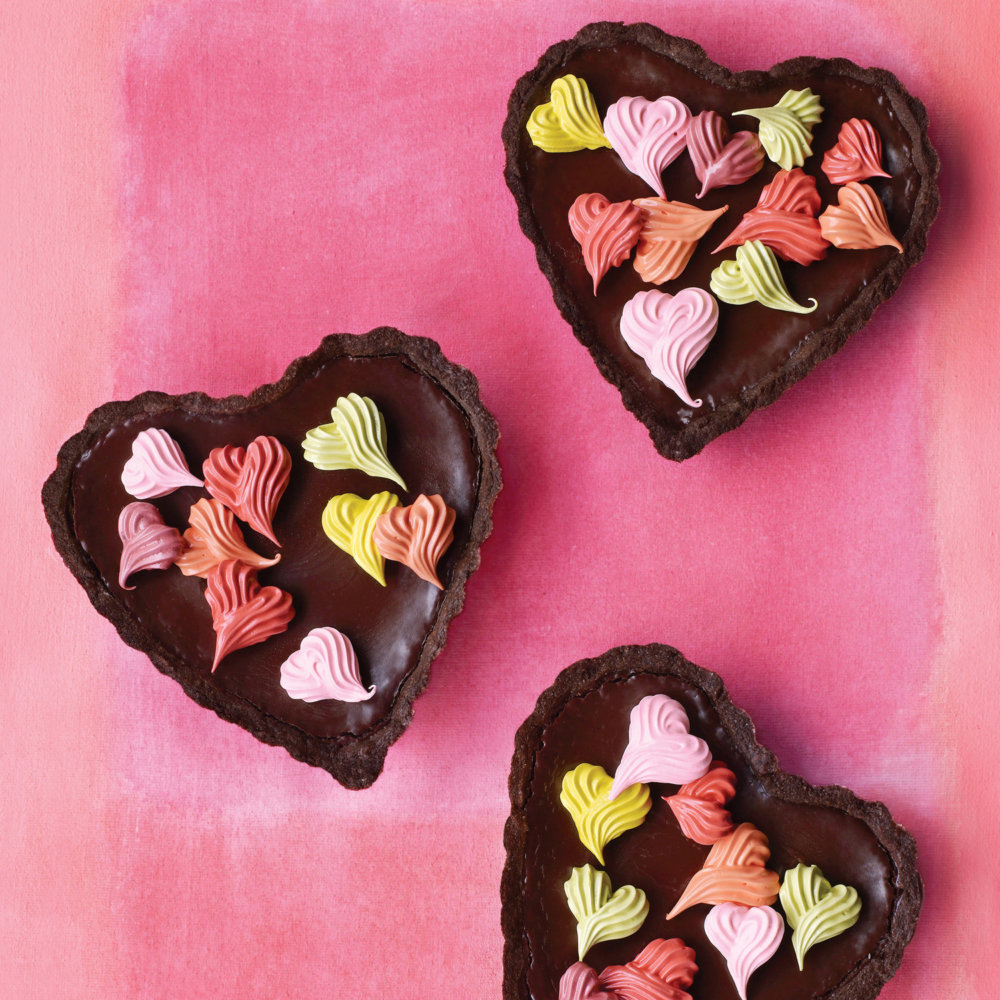 Chocolate Ganache Heart Tartlets