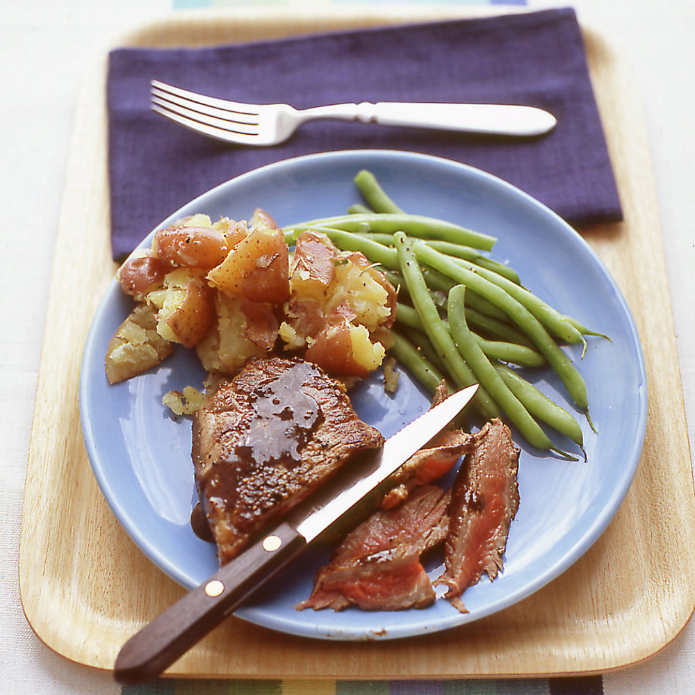 Steaks with Balsamic-Mustard Sauce
