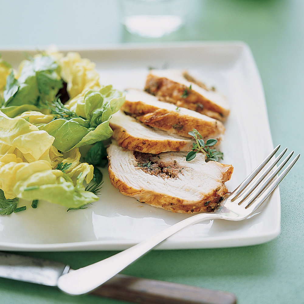 Roast Turkey Roulades with Thyme, Honey, and Pecans