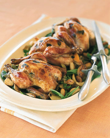 Cornish Hens with Forty Cloves of Garlic