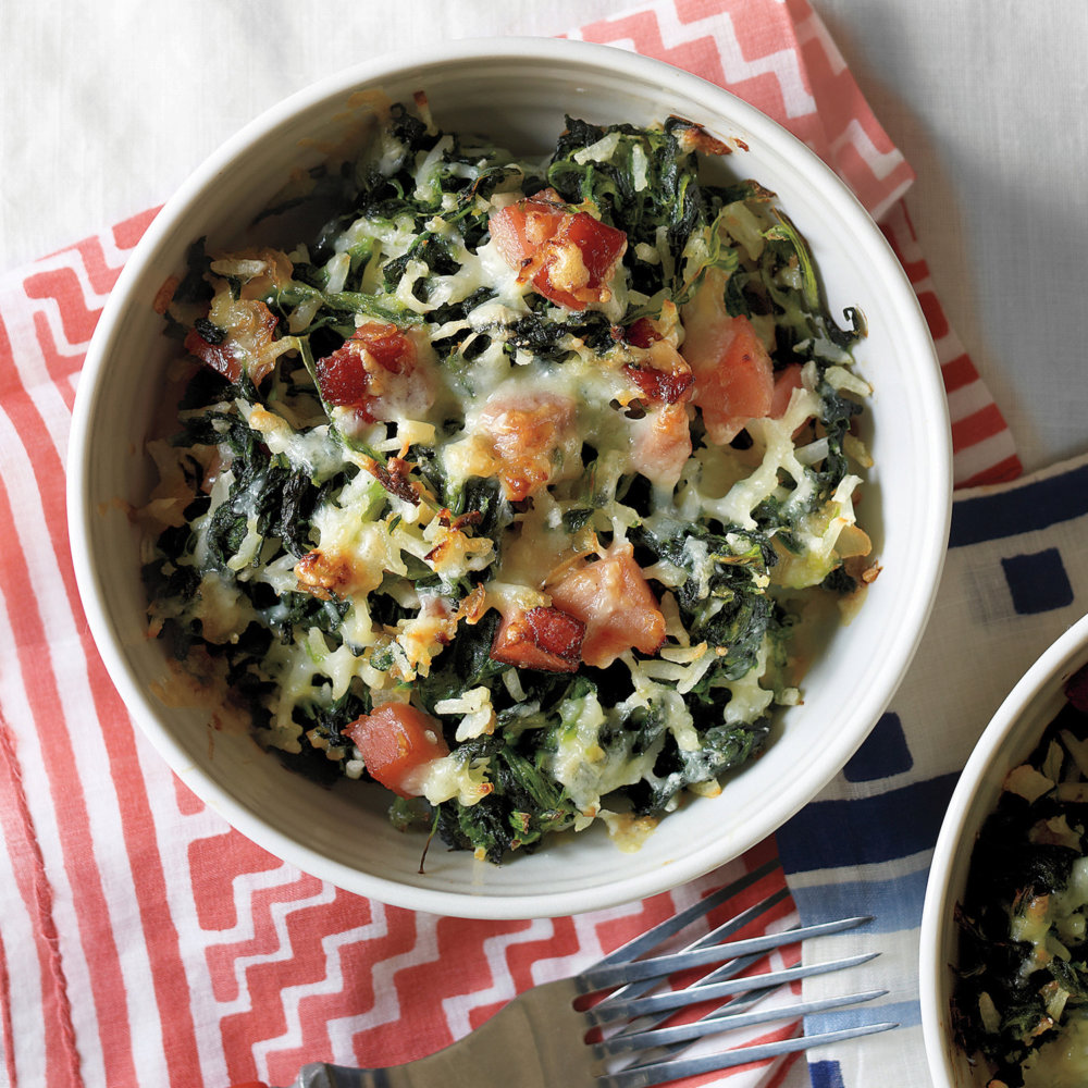 Spinach, Ham, and Rice Casserole
