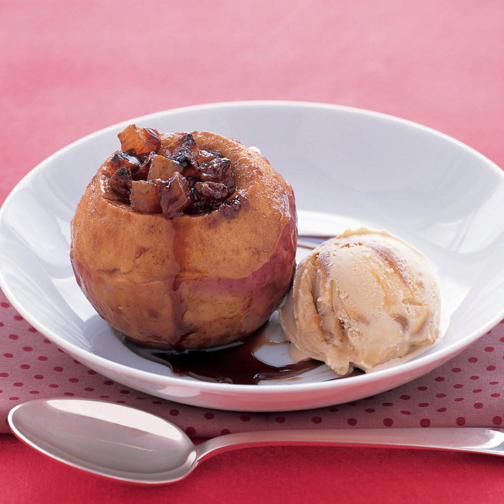 Baked Apples with Dried Apricots