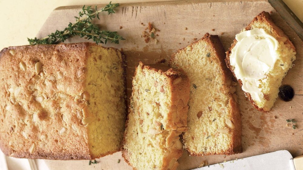 Polenta Quick Bread with Lemon and Thyme