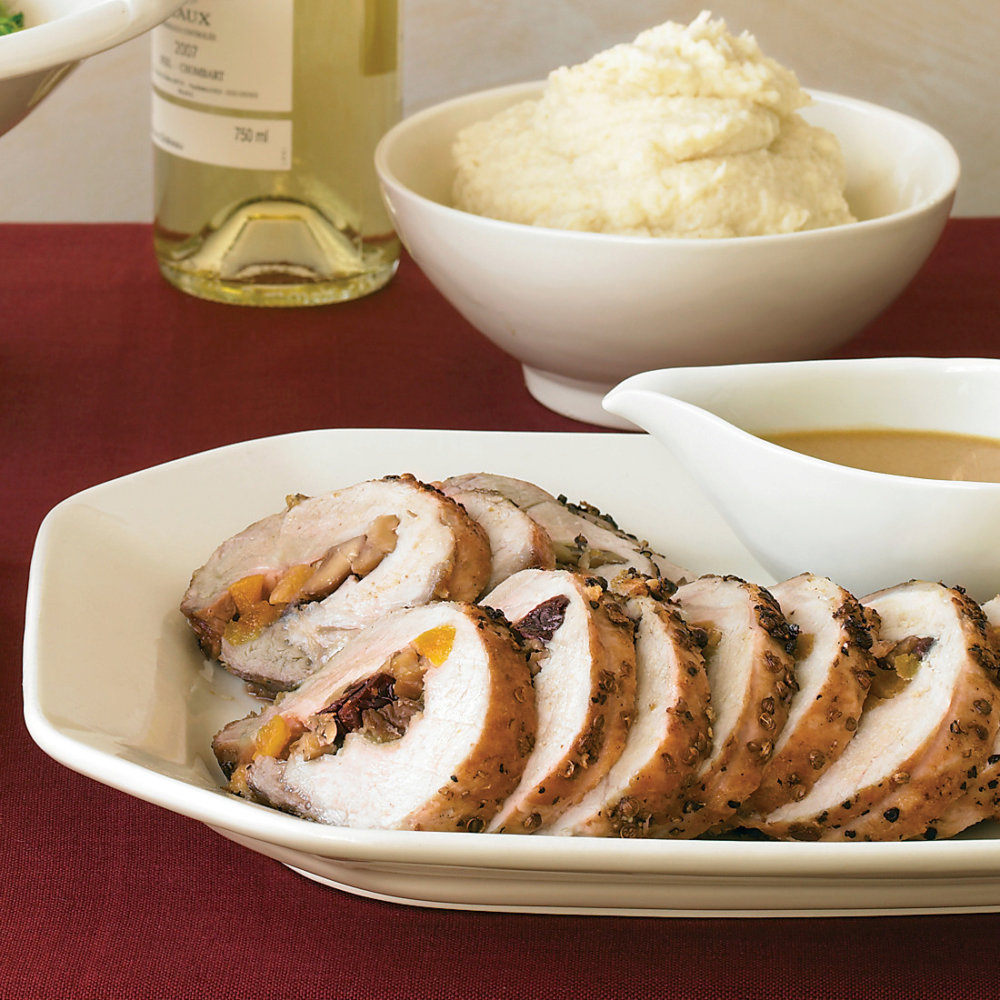 Pork Loin with Dried-Fruit and Chestnut Stuffing