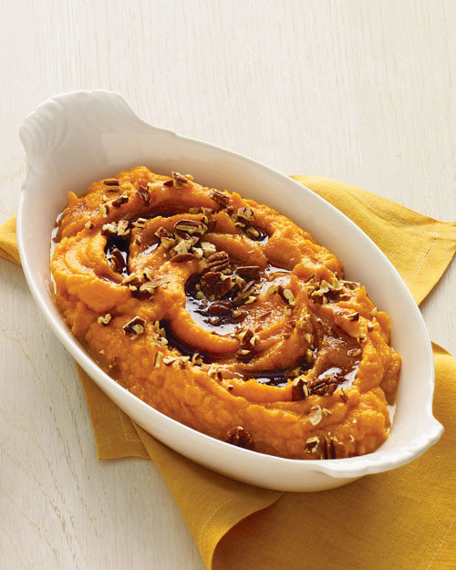 Sweet Potato Puree with Browned-Butter Maple Syrup
