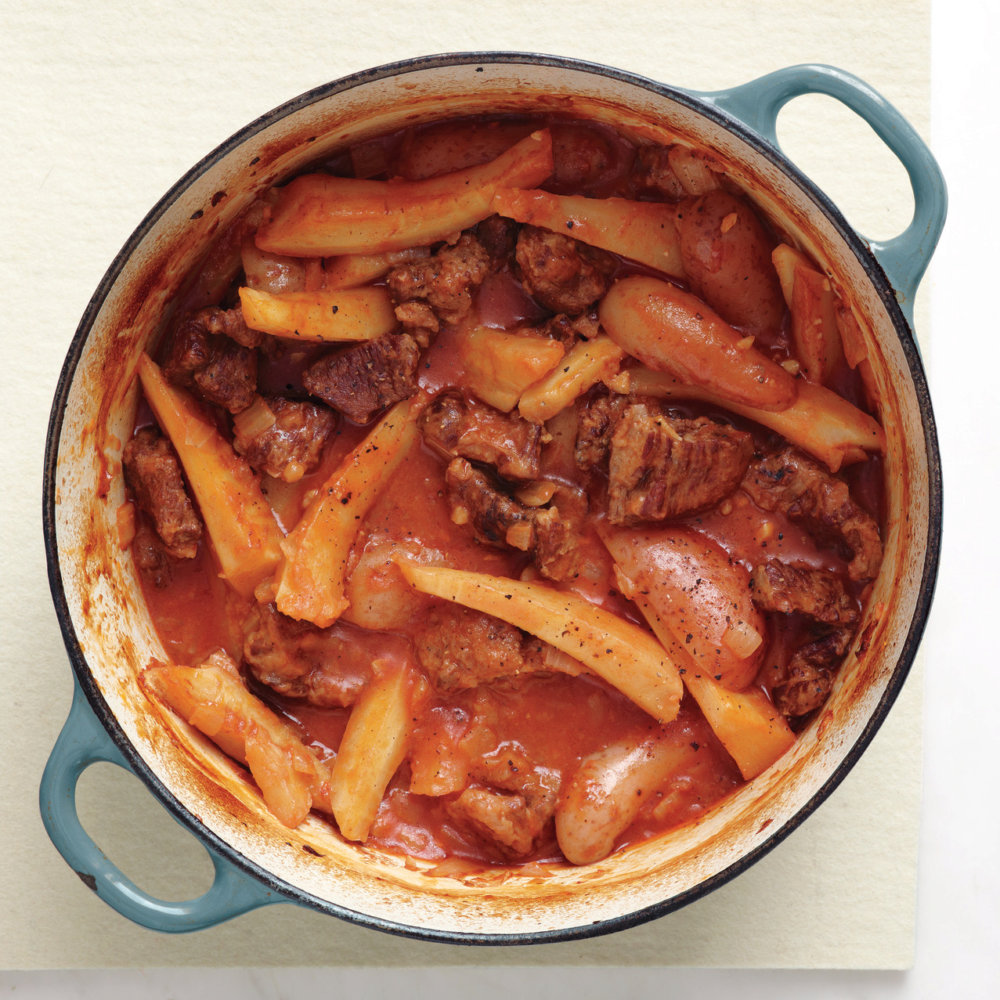 Beef Stew with Potatoes and Parsnips