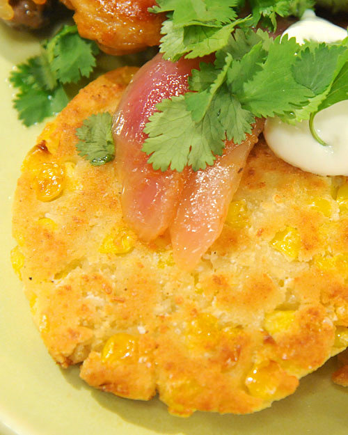 Mexican Corn and Cotija Cakes