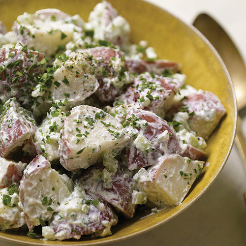 Warm Potato Salad with Goat Cheese