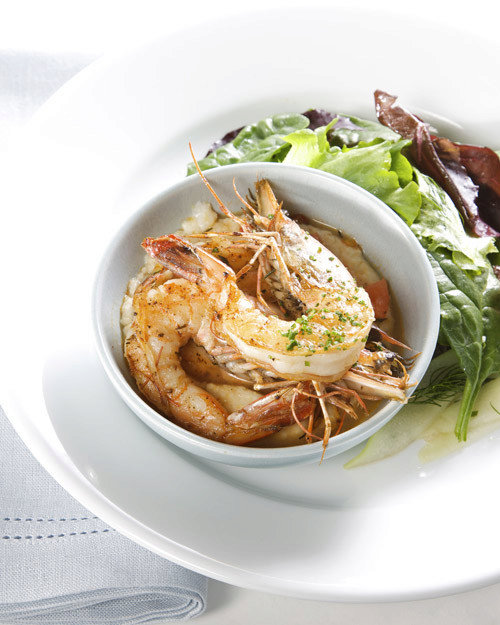 Slow-Cooked Louisiana Shrimp and Grits