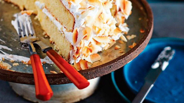 Triple Coconut Cake With Seven-Minute Coconut Frosting