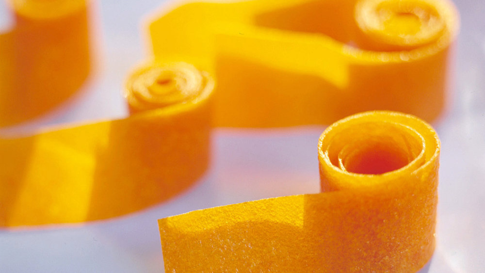 Apricot Fruit Leather Rolls