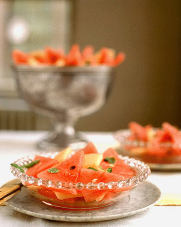Melon with Lime Syrup