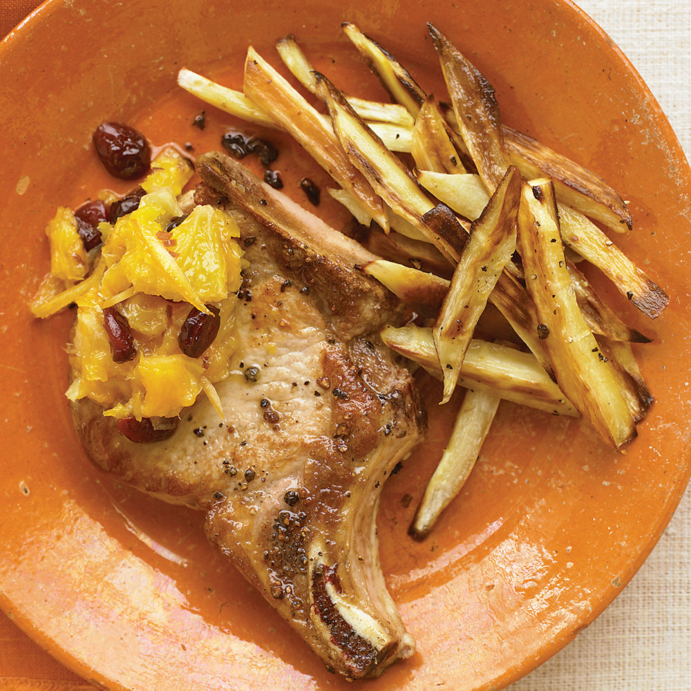 Orange Chutney over Pork Chops