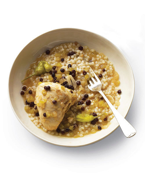 Sweet-and-Sour Chicken with Israeli Couscous
