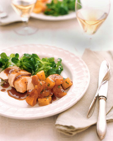 Poached Chicken with Grainy Mustard Sauce