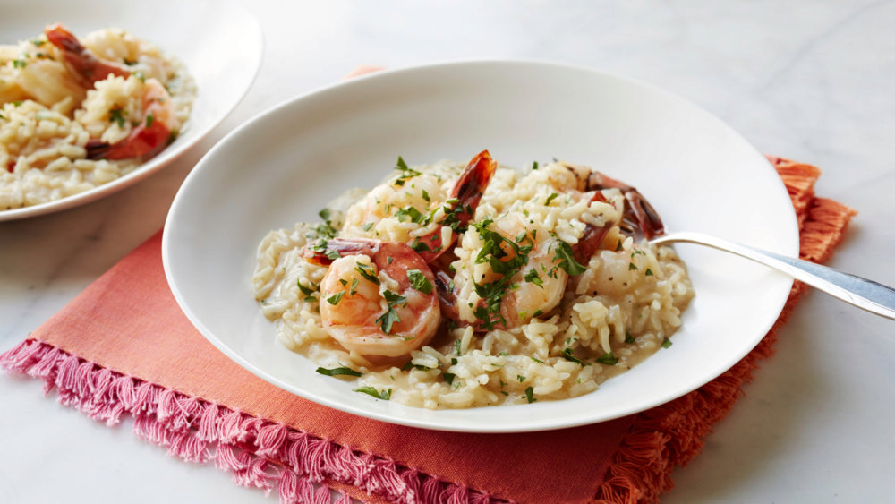Pressure-Cooker Risotto with Shrimp and Herbs
