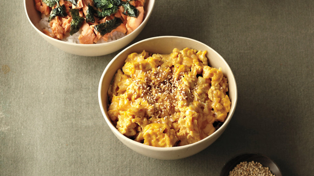 Nobu's Scrambled Eggs Donburi