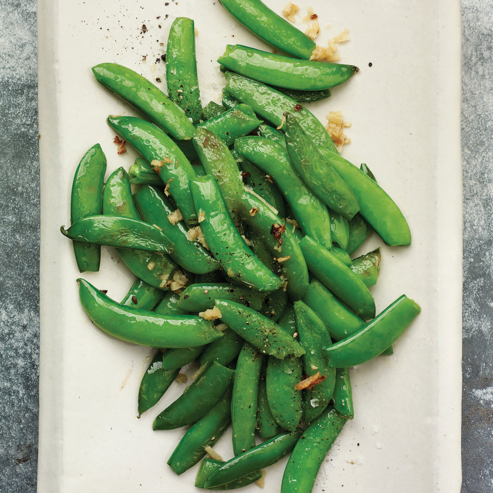 Gingered Sugar Snaps