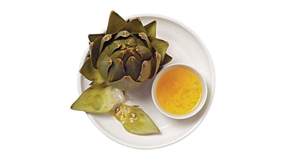 Artichokes with Horseradish Butter