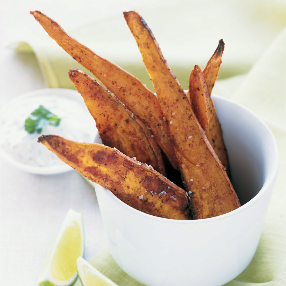 Yogurt Dipping Sauce for Spicy Sweet Potatoes with Lime