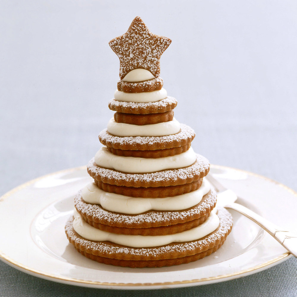 Cream Cheese Frosting for Gingerbread-Cookie Trees