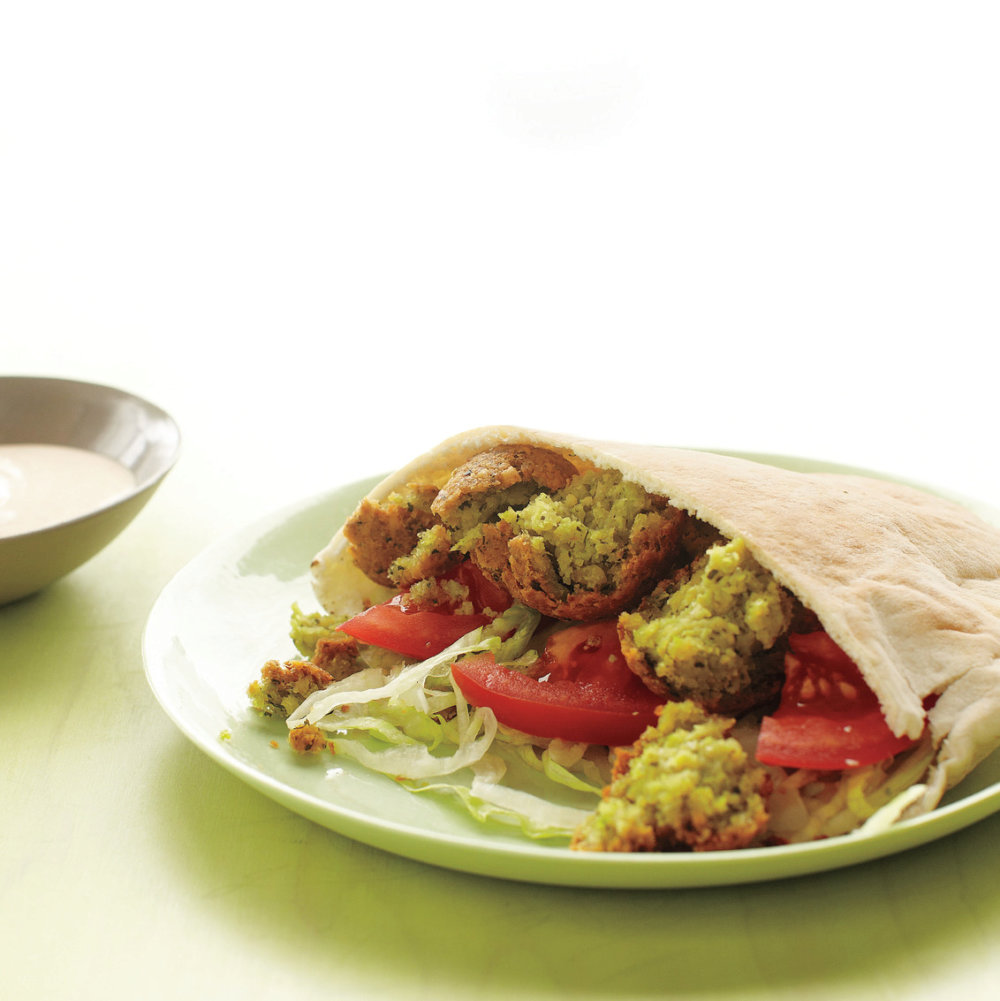 Edamame Falafel with Spicy Coriander Sauce