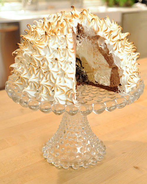 Swiss Meringue Traditional Baked Alaska