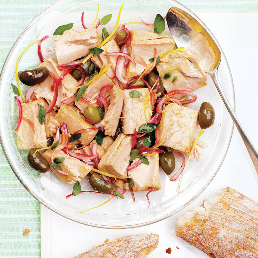 Marinated Tuna with Baguette