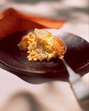 Spoon Bread with Leeks and Corn
