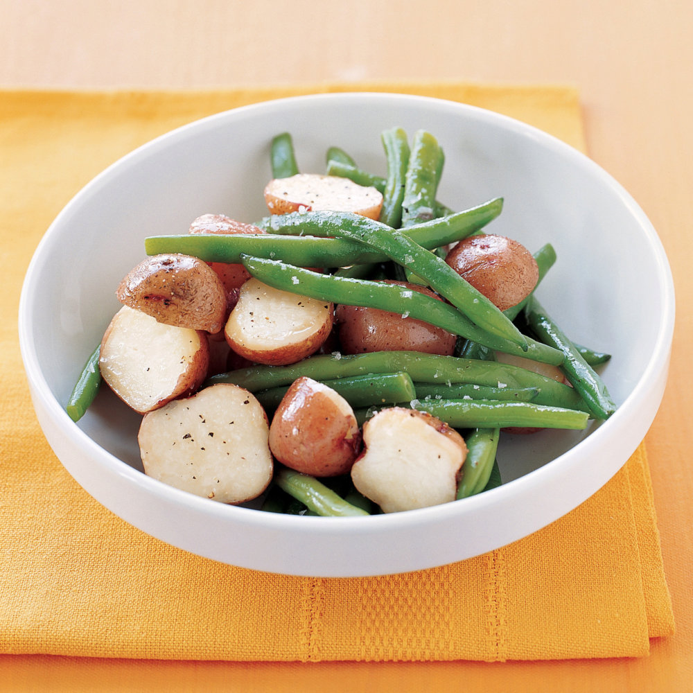 Boiled Potatoes and Green Beans