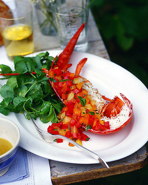 Lobster with Red and Yellow Tomatoes