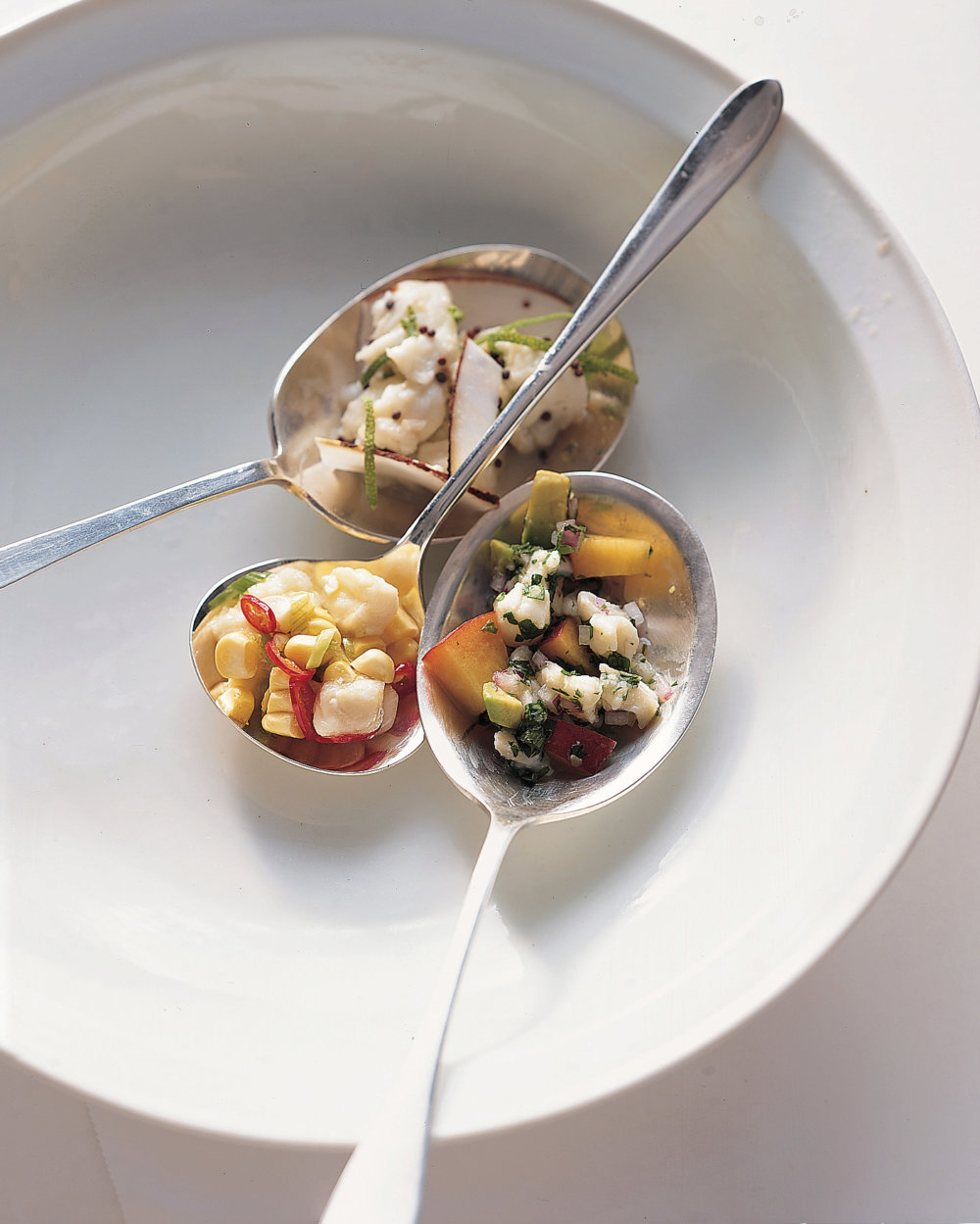 Fluke Ceviche with Corn, Scallions, and Chiles