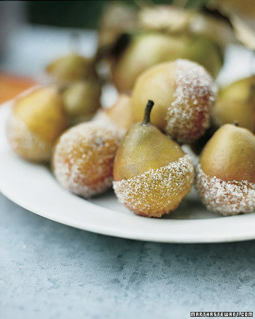 Sugared Seckel Pears