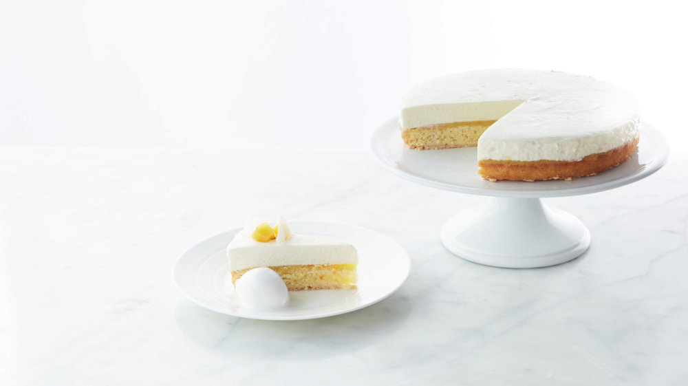 Frozen Coconut and Roasted Pineapple Cake