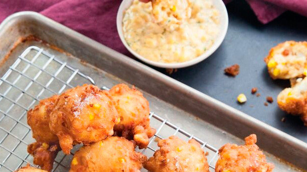 Crab and Corn Fritters with Fresh Corn Mayo