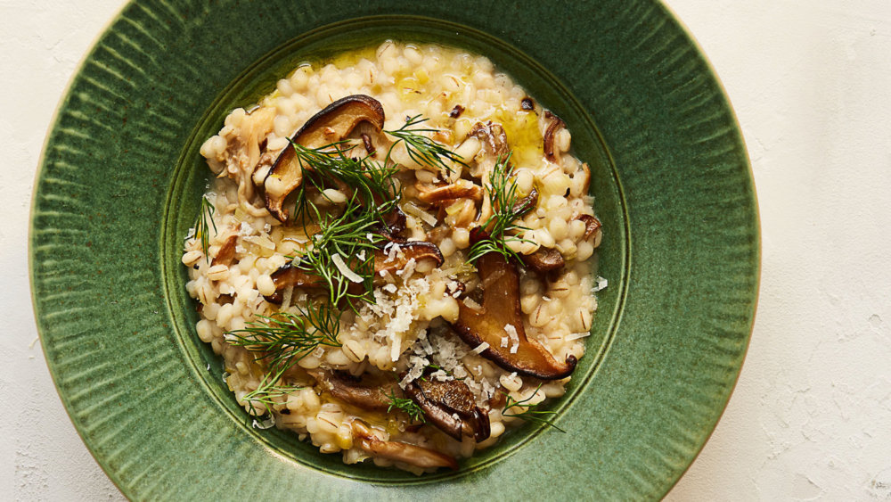 Barley Risotto with Mushrooms and Dill