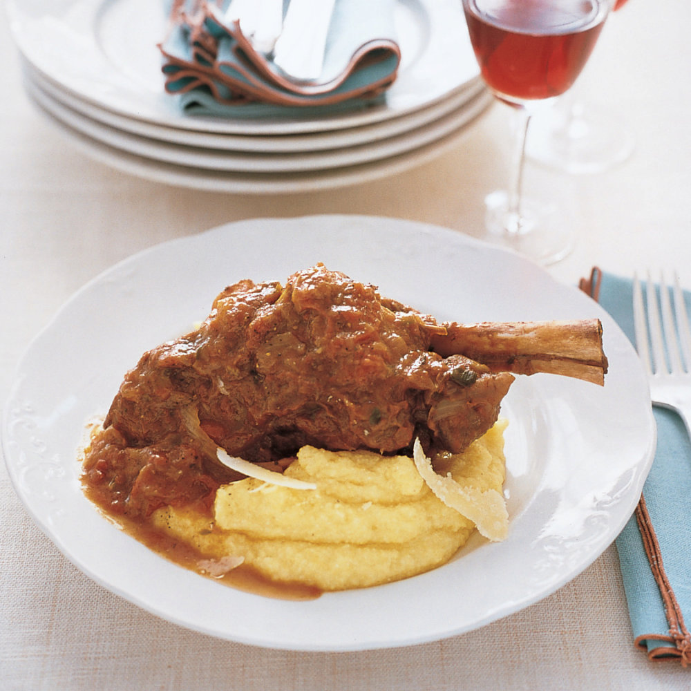 Braised Lamb Shanks with Tomato and Fennel