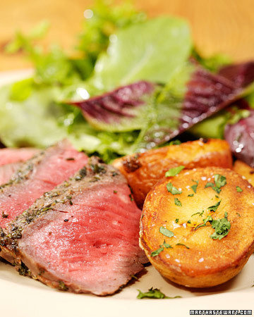 Grilled Sirloin Steak with Herbs