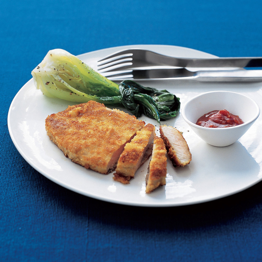 Breaded Pork Cutlets with Ginger-Soy Sauce
