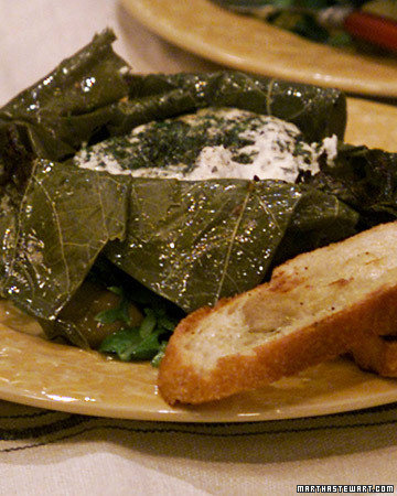 Goat Cheese Grape Leaf Bundles with Melissa