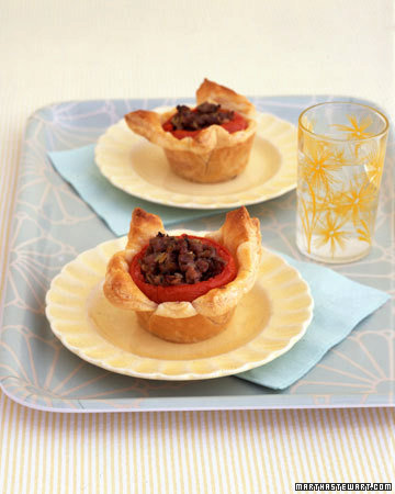 Stuffed Tomatoes in Puff Pastry