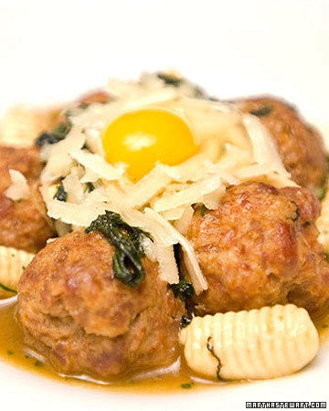 Spicy Duck Meatballs with Mint Cavatelli