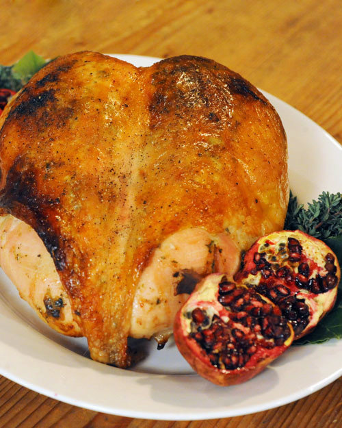 Turkey Breast with Roasted Garlic and Fresh Herbs