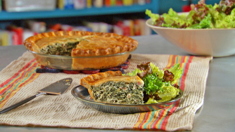 Spinach and Ham Pie