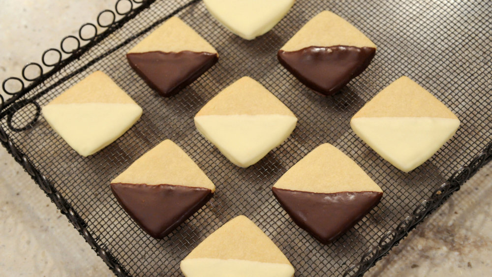 Black and White Butter Cookies