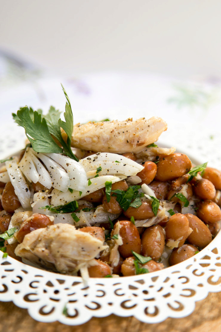 Beans, mackerel and onion salad - a cheap and quick Italian classic... almost