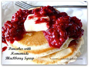 Pancakes with Homemade Blackberry Syrup (Cracker Barrel Copy Kat)