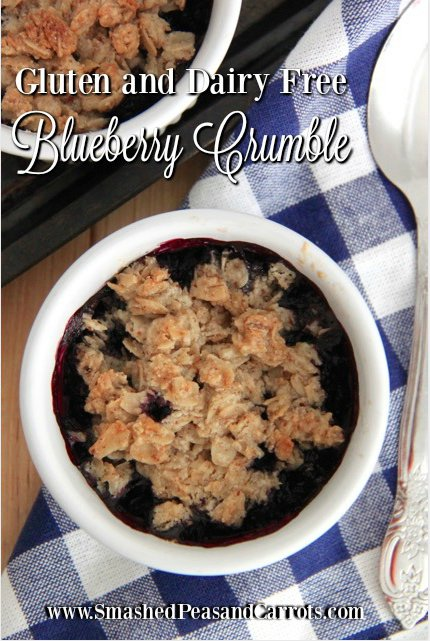 Paleo Gluten and Dairy Free Blueberry Crumble Recipe