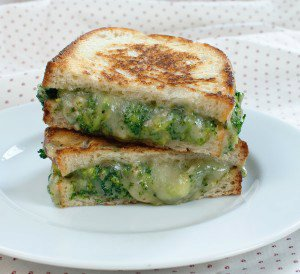 Broccoli-Cheddar Grilled Cheese