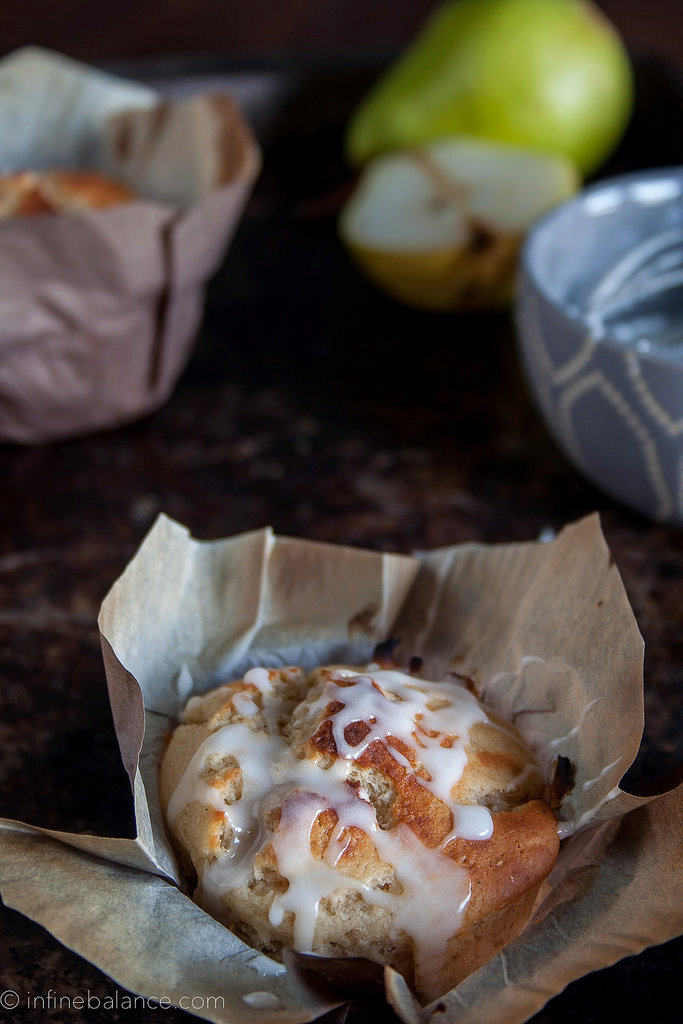 Pear Muffins with Cardamom